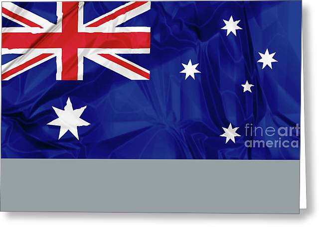 Flag Of Australia Greeting Card