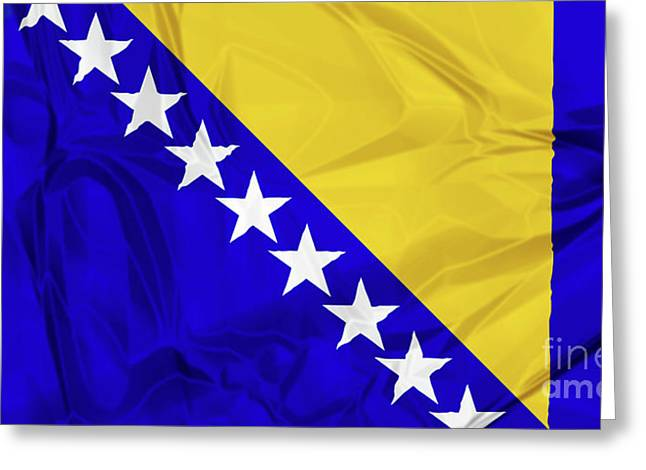 Flag Of Bosnia Greeting Card