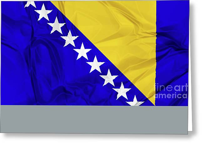 Flag Of Bosnia Greeting Card
