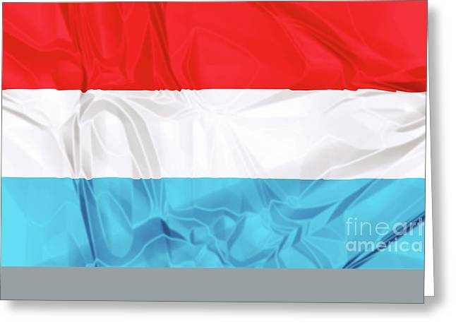 Flag Of Luxembourg Greeting Card