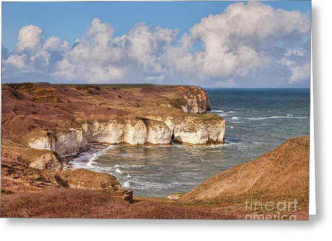 Greeting Card featuring the photograph Flamborough Head by Colin and Linda McKie