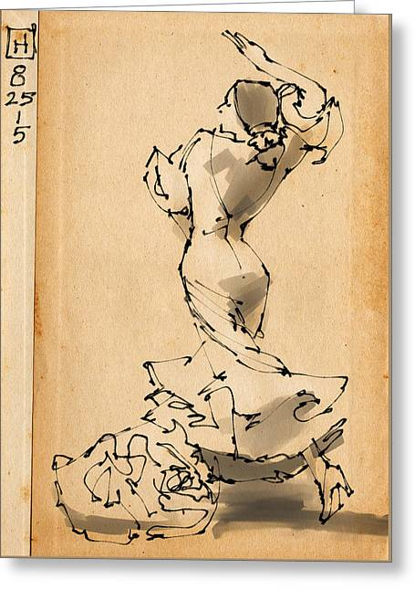 Flamenco Greeting Card by H James Hoff