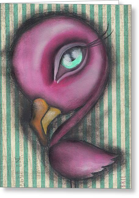 Flamingo Greeting Card by Abril Andrade Griffith