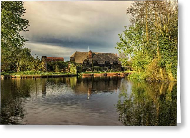 Flatford Mill Greeting Card by Martin Newman