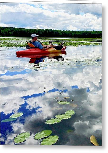 Floating In The Sky Greeting Card