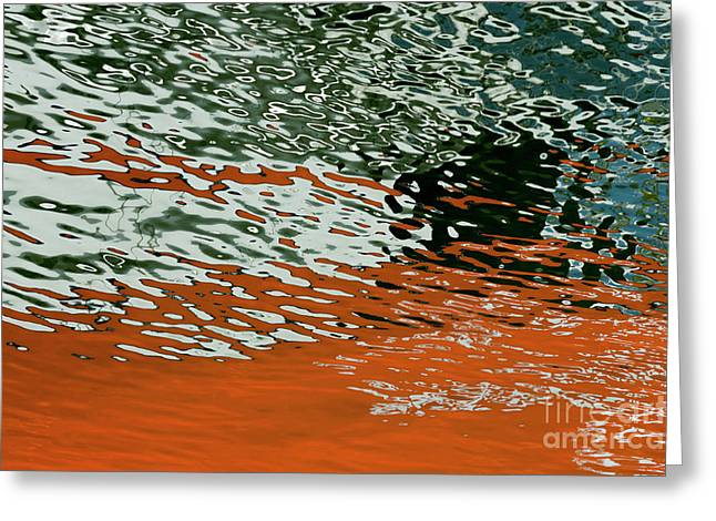 Greeting Card featuring the photograph Floating On Blue 43 by Wendy Wilton