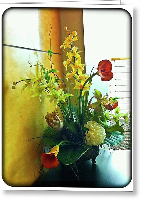 Floral Bouquet Greeting Card by Francesco Roncone