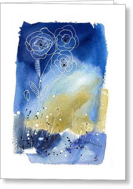 Floral V Greeting Card