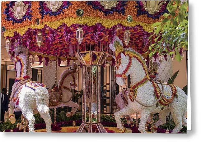 Floral Merry-go-round - Wynn Hotel - Las Vegas Nevada Greeting Card