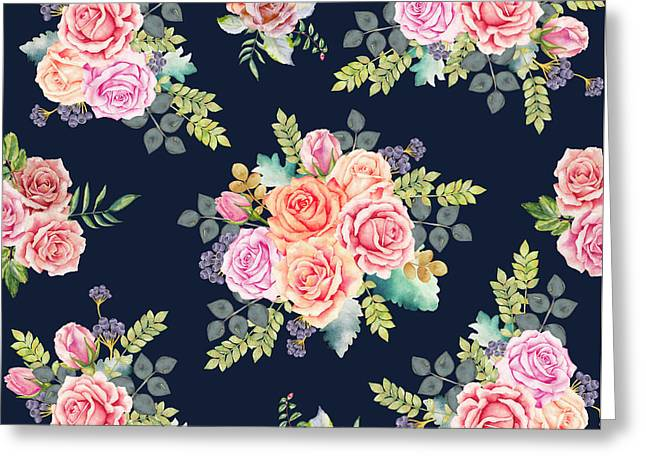 Floral Pattern 1 Greeting Card by Stanley Wong
