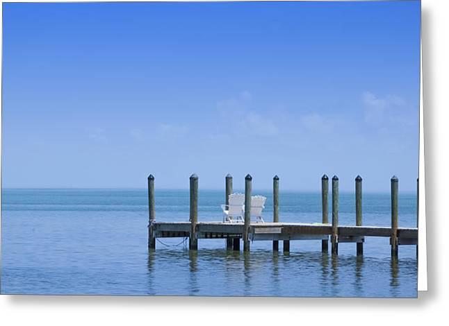 Florida Keys Quiet Place Panoramic View Greeting Card by Melanie Viola