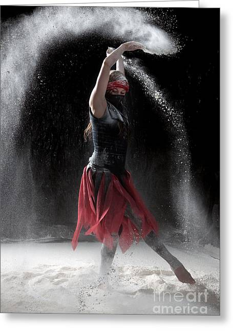 Vertical Greeting Cards - Flour Dancing Series Greeting Card by Cindy Singleton