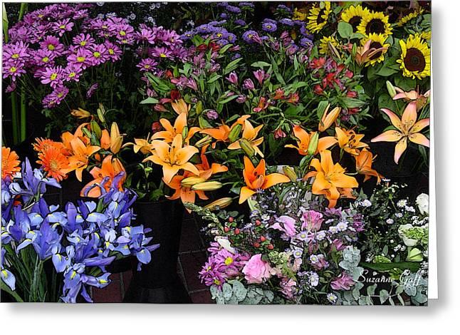 Flower Market II Greeting Card