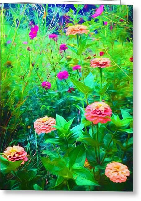Flower Painting Greeting Card by Debra Lynch