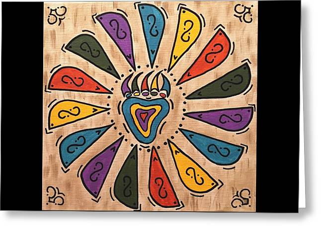 Flower Power Greeting Card by Susie WEBER