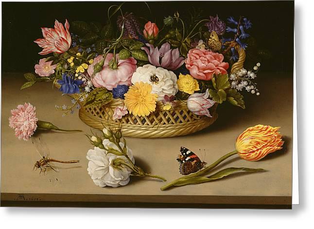 Flower Still Life  Greeting Card