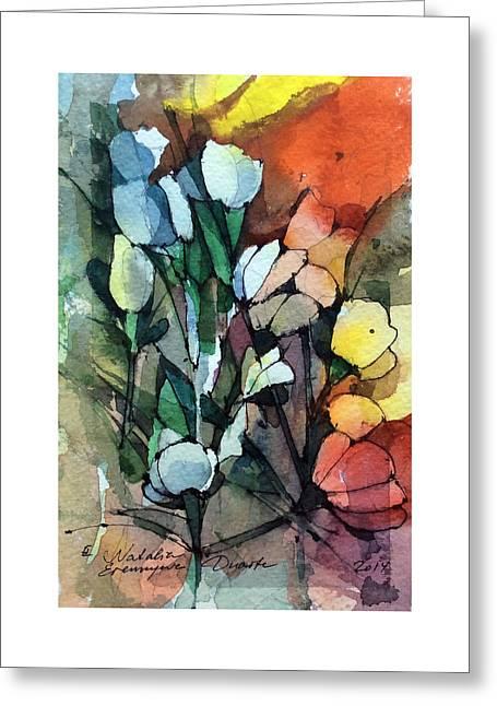 Flowers Fantasy Greeting Card by Natalia Eremeyeva Duarte