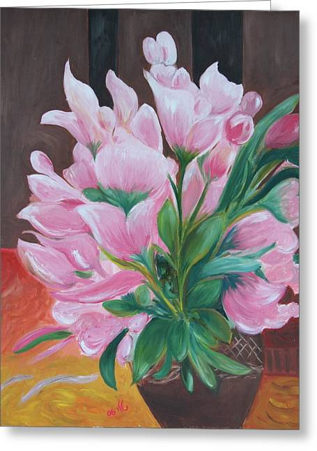 Flowers Greeting Card by Taly Bar