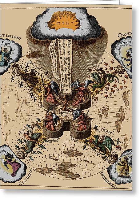 Fludds System Of Health, 1631 Greeting Card
