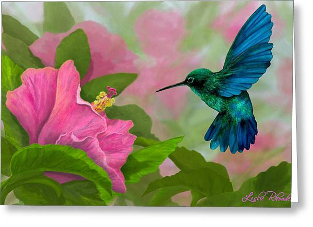Flying Colors Greeting Card by Leslie Rhoades