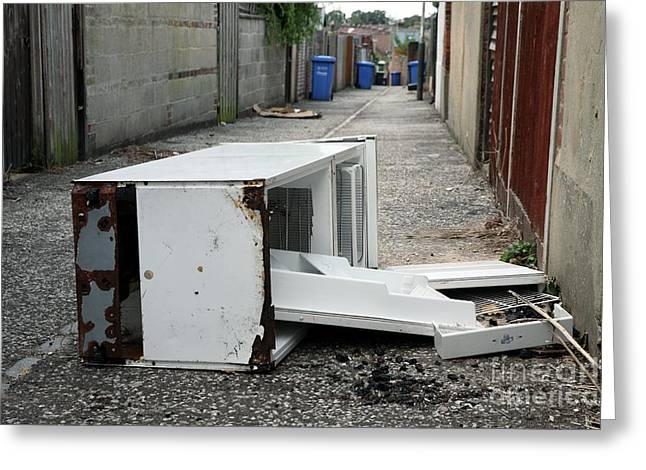 Flytipping Greeting Card by Victor de Schwanberg