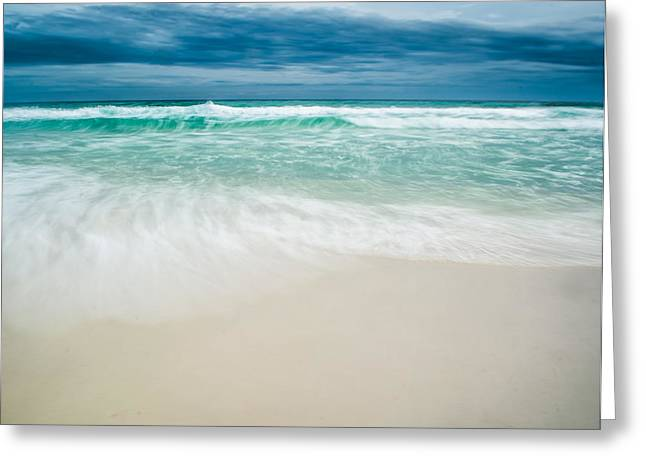 Foaming Waves Greeting Card by Shelby  Young