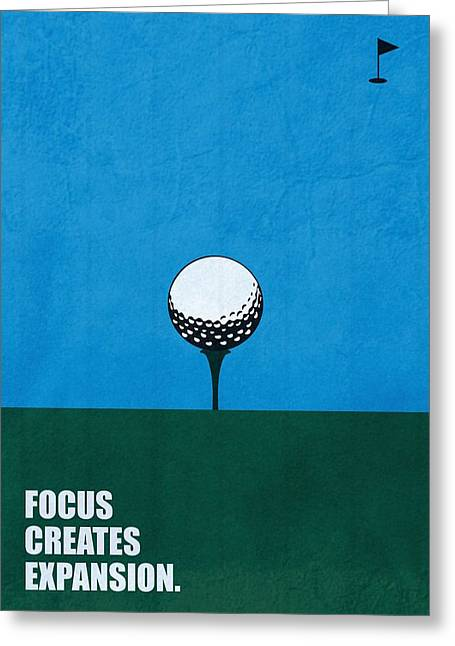 Focus Creates Expansion Corporate Start-up Quotes Poster Greeting Card