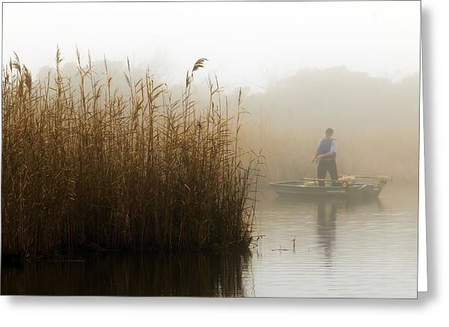 Foggy Fishing Greeting Card
