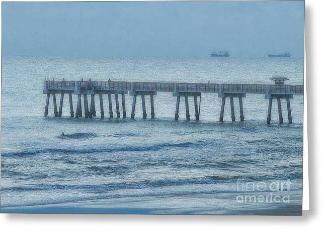 Foggy Morning Greeting Card by Dave Bosse