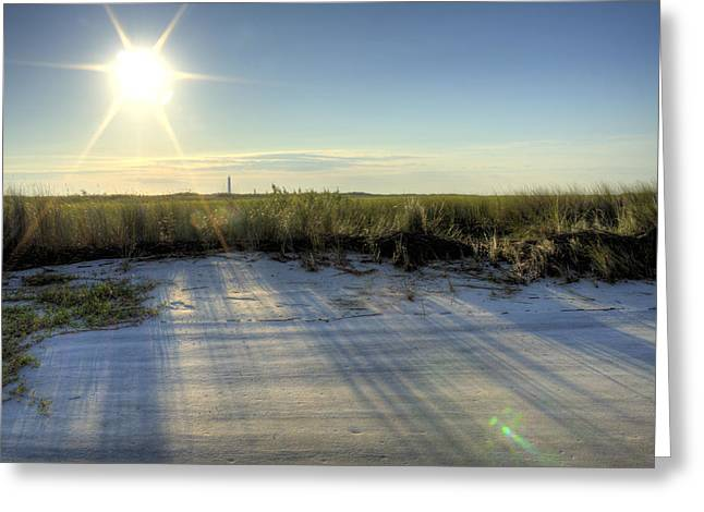 Folly Beach Sunrise Over Morris Island Greeting Card by Dustin K Ryan