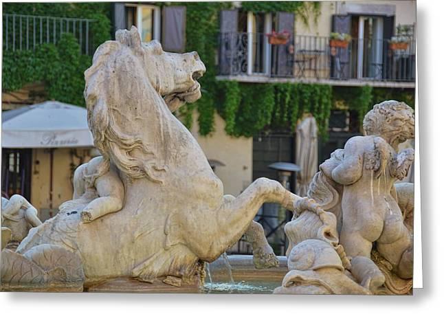 Fontana Dei Calderari Greeting Card by JAMART Photography