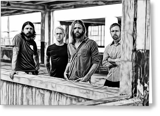 Foo Fighters Collection Greeting Card by Marvin Blaine
