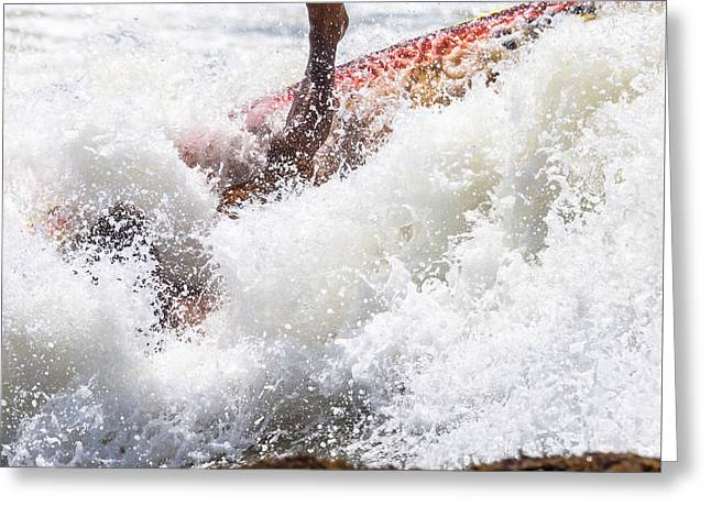 Foot Immersed In The Surf Greeting Card by Massimo Lama
