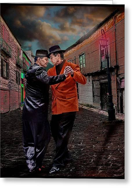 Gay Male Greeting Cards - For Men Only - Tango Series Greeting Card by Raul Villalba