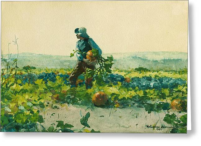 For To Be A Farmer's Boy Greeting Card by Winslow Homer