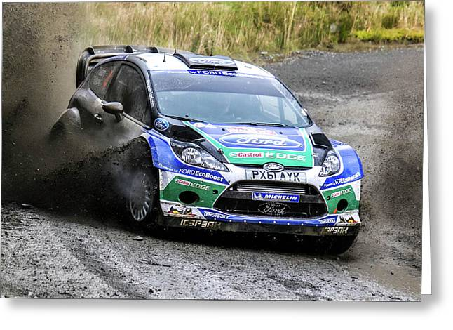 Ford Focus Wrc Rally Gb Greeting Card
