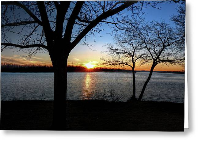 Ford Lake Sunset Greeting Card