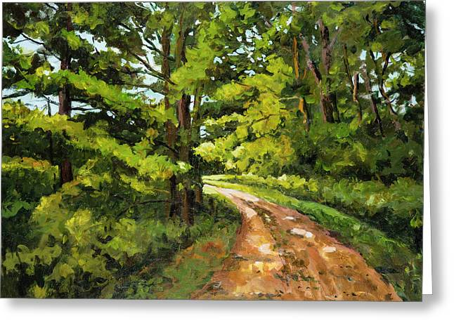 Forest Pathway Greeting Card by Alexandra Maria Ethlyn Cheshire