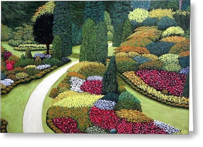 Formal Gardens Greeting Card by Frederic Kohli