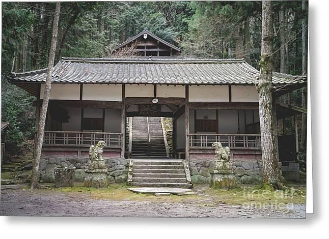 Forrest Shrine, Japan Greeting Card
