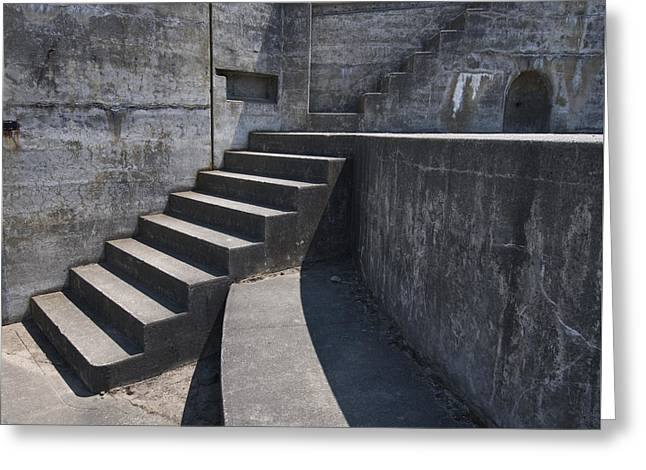 Fort Casey Steps 3939 Greeting Card