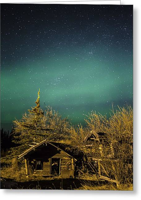 Fort Night Greeting Card by Ed Boudreau