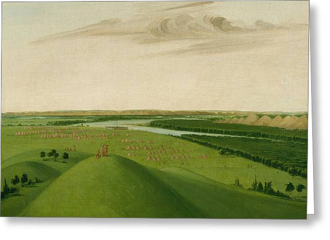 Fort Union, Mouth Of The Yellowstone River Greeting Card by George Catlin
