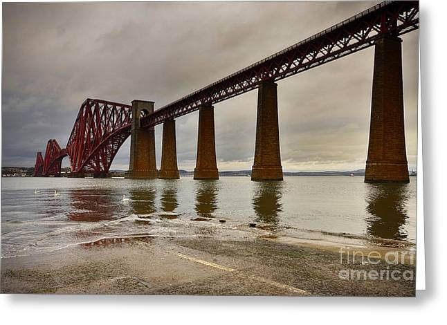 Forth Rail Bridge Greeting Card by Nichola Denny