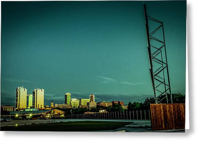 Fortworth Texas Cityscape Greeting Card