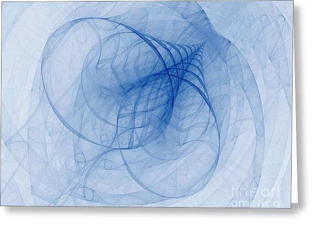 Fractal Image Greeting Card by Ted Kinsman