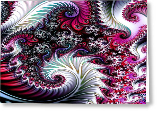 Fractal Pinks Greeting Card