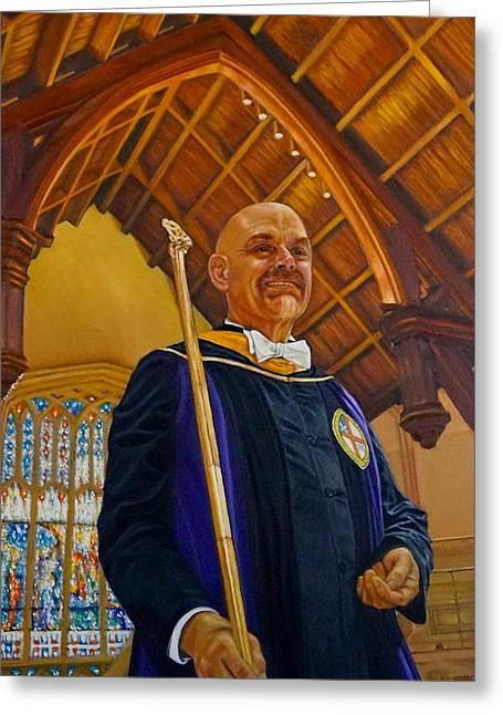 Frank Bellamy At St John's Cathedral  Greeting Card by Mitzisan Art LLC