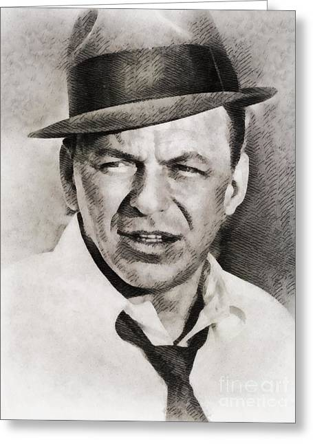 Frank Sinatra, Hollywood Legend By John Springfield Greeting Card by John Springfield