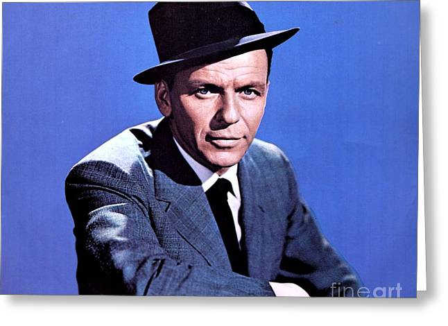 Frank Sinatra Greeting Card by The Titanic Project